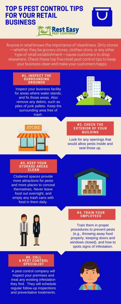 pest control for retail business, infographic, Rest Easy Pest Control