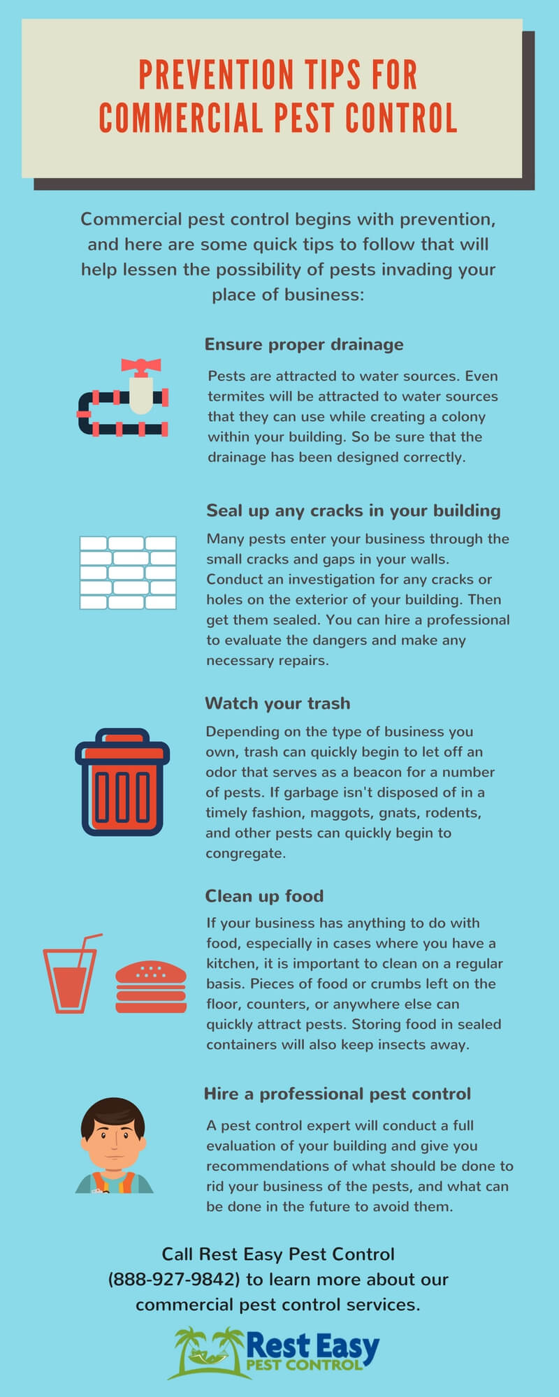 infographic Prevention tips for commercial pest control