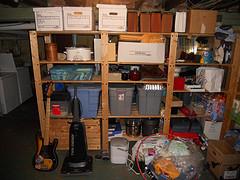 Basement shelf