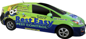 Rest easy pest control's car