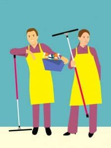 icon of cleaning service staffs